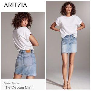 Aritzia Denim Forum The Debbie Mini Skirt Sz 26